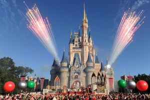 Fireworks at Disney World's Cinderella Castle