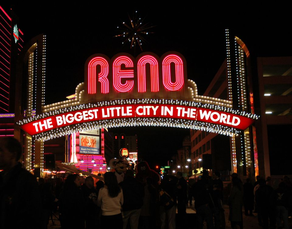 World Famous Reno Arch In Downtown Nevada NV