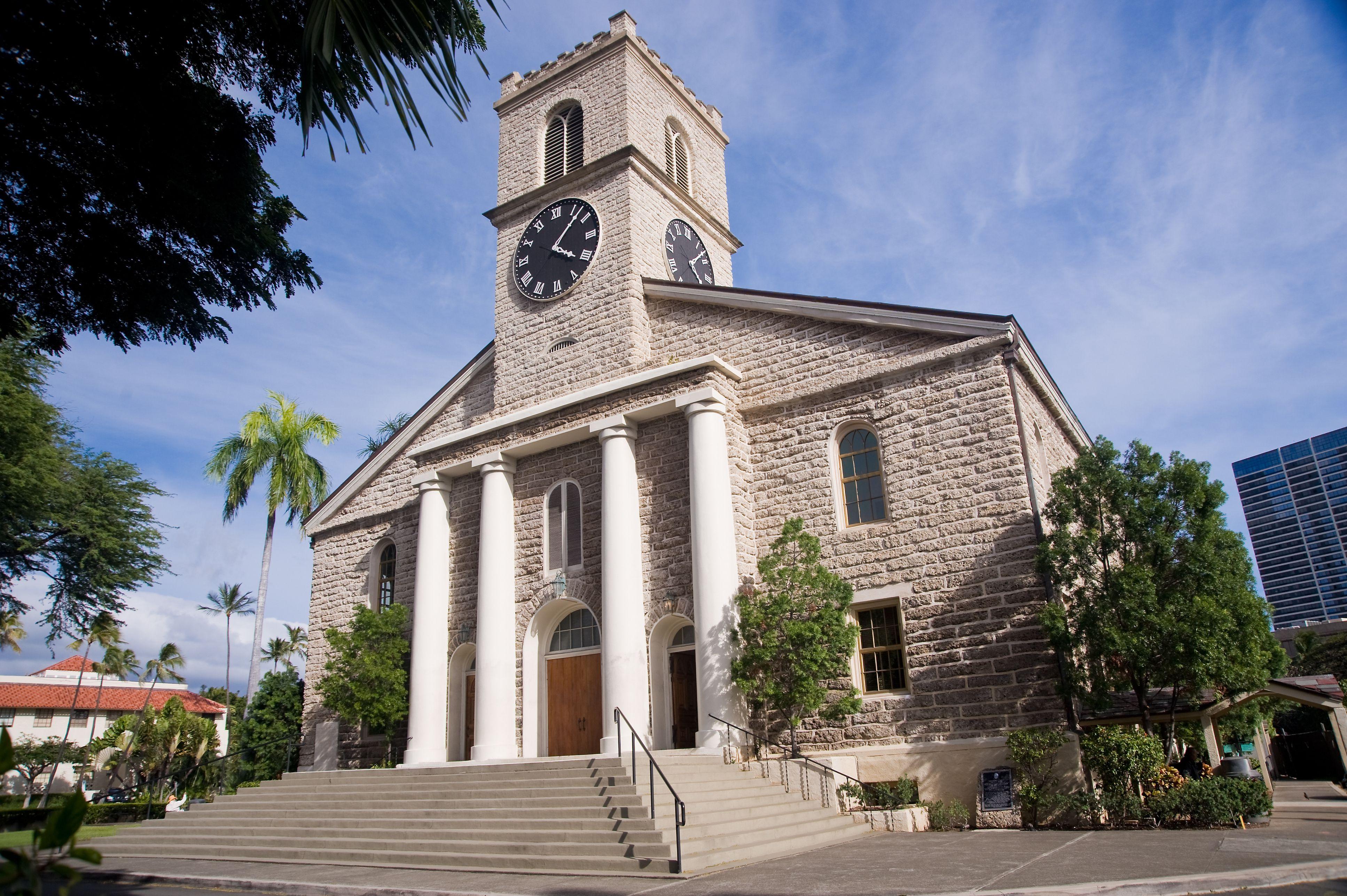Kawaiaha'o, the first Christian Church in Hawaii.
