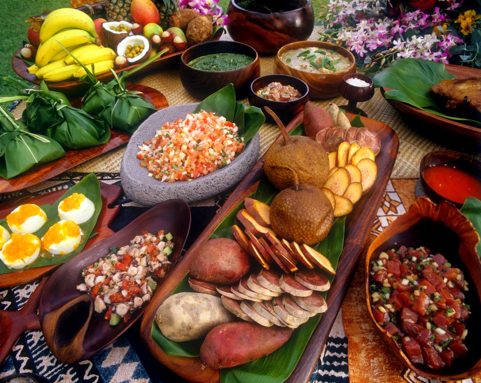 Luau food, Hawaii