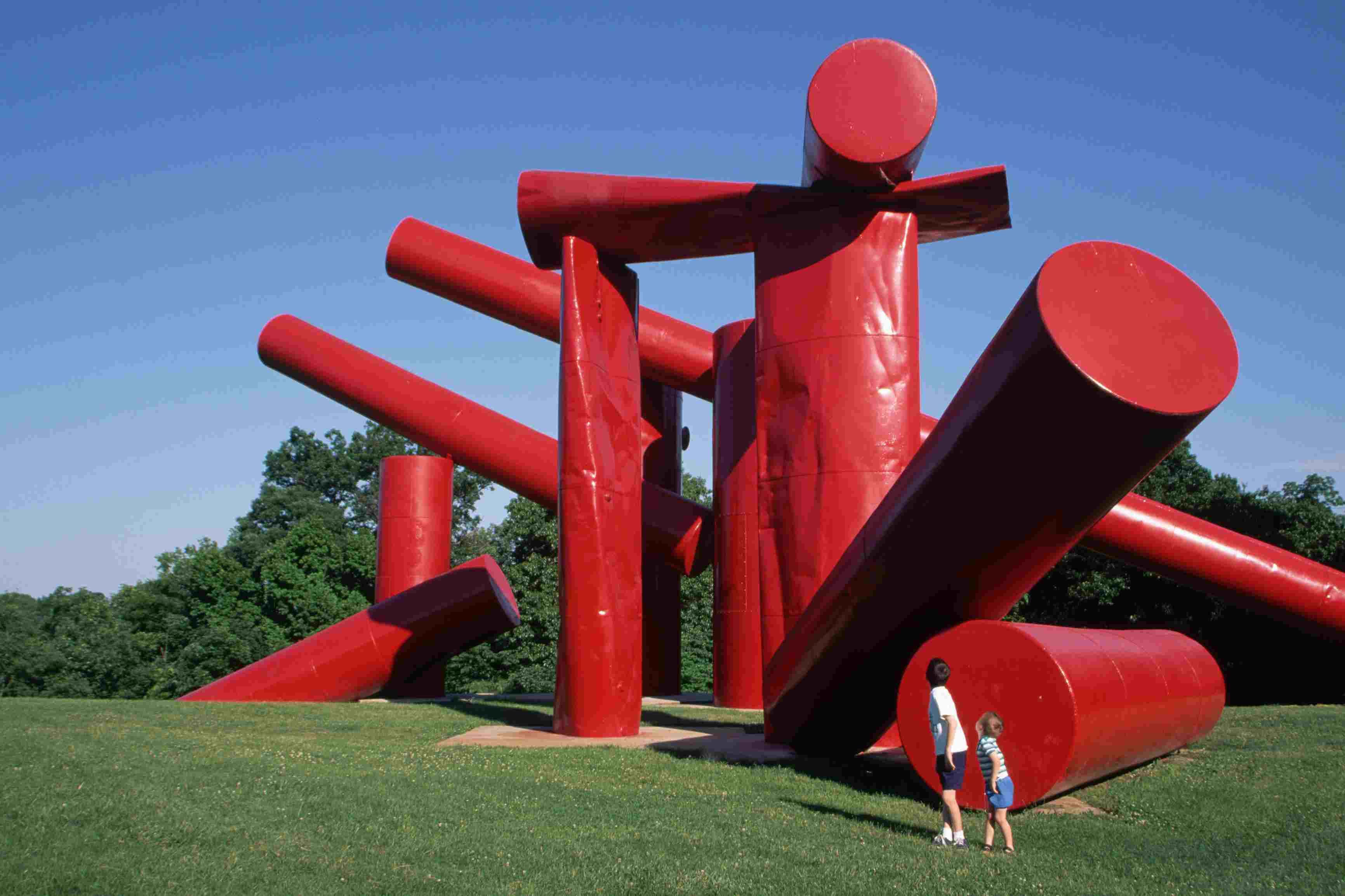 Red sculpture at Laumeier Sculpture Park