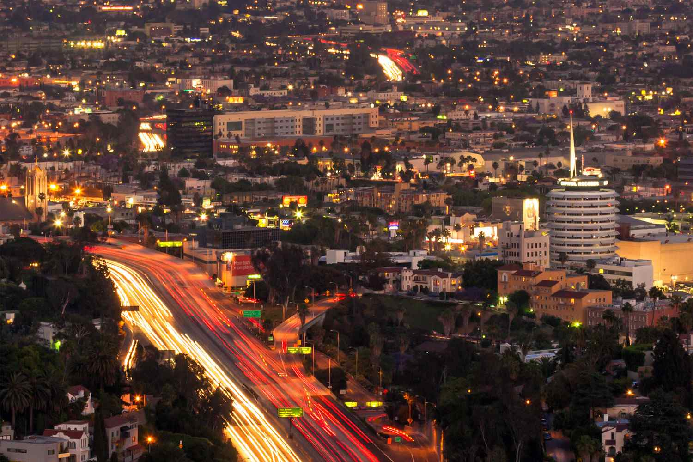Sunset Boulevard at Night