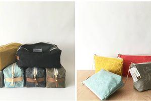 Waxed Dopp and Cosmetics kits.