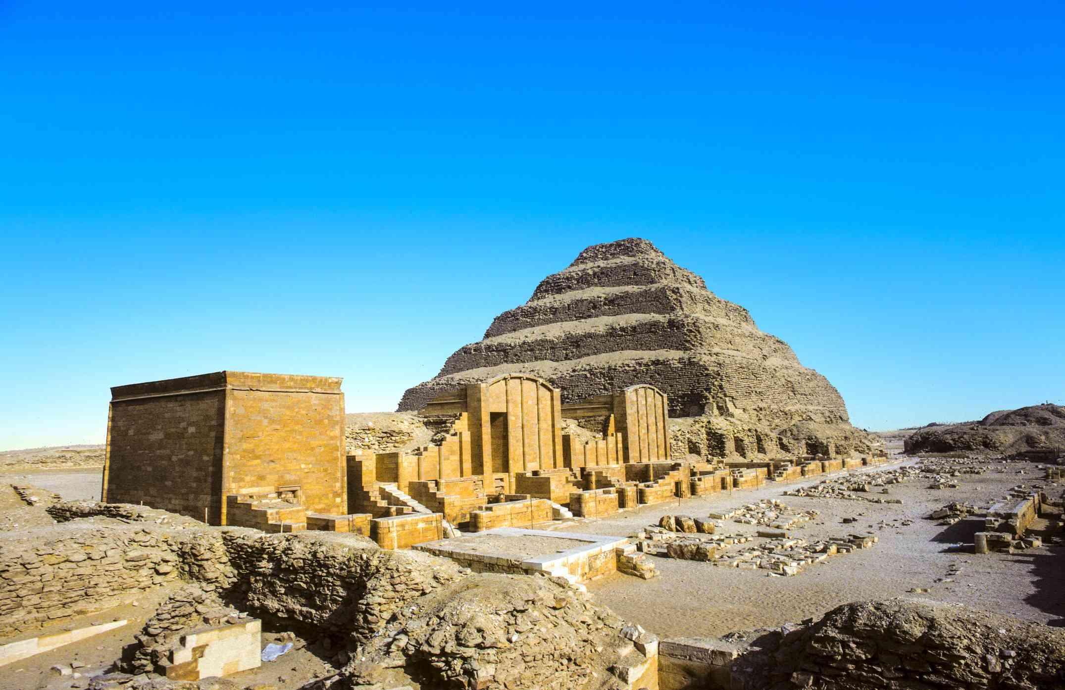 Pyramid of Djoser at Saqqara, Egypt