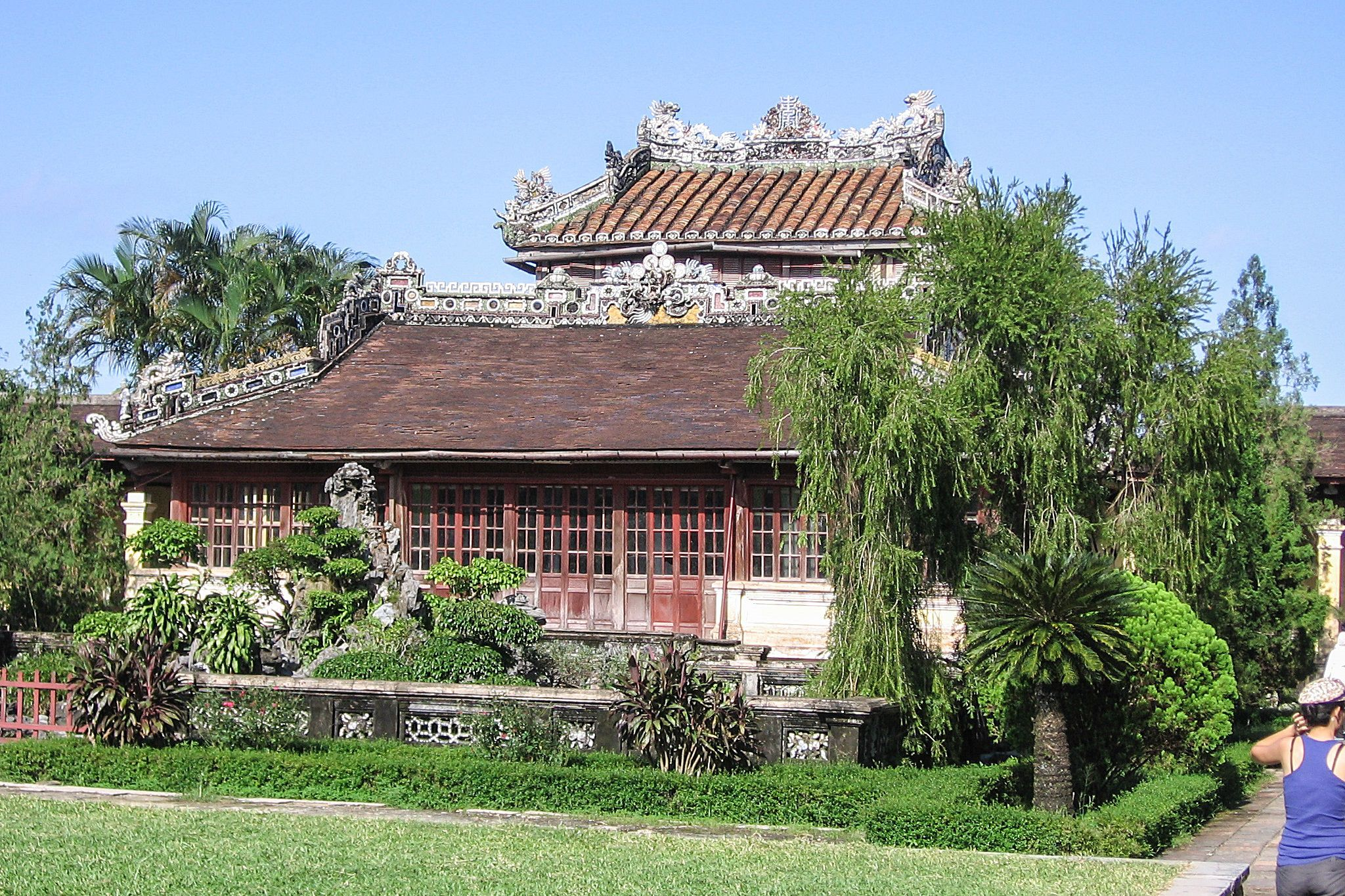 Facade of Emperor's Reading Room, Hue Citadel, Vietnam.