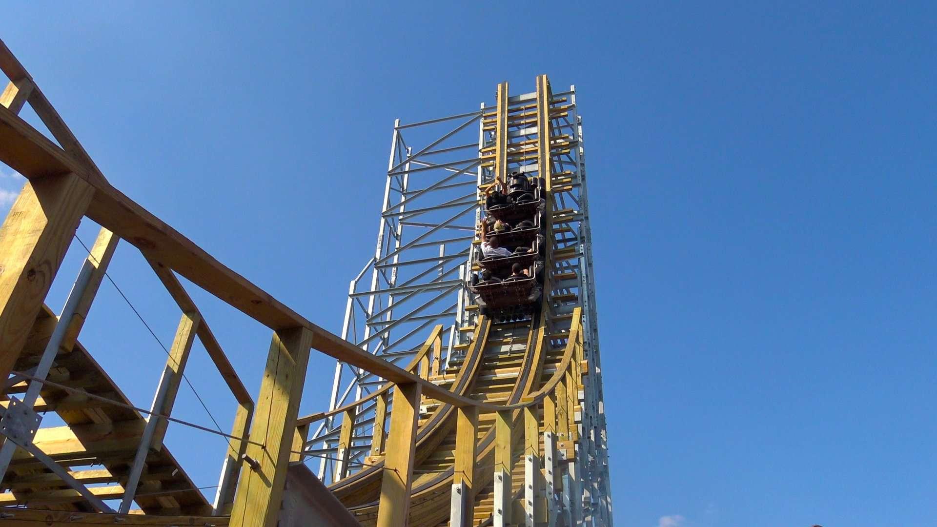 Switchback coaster at ZDT's Amusement Park