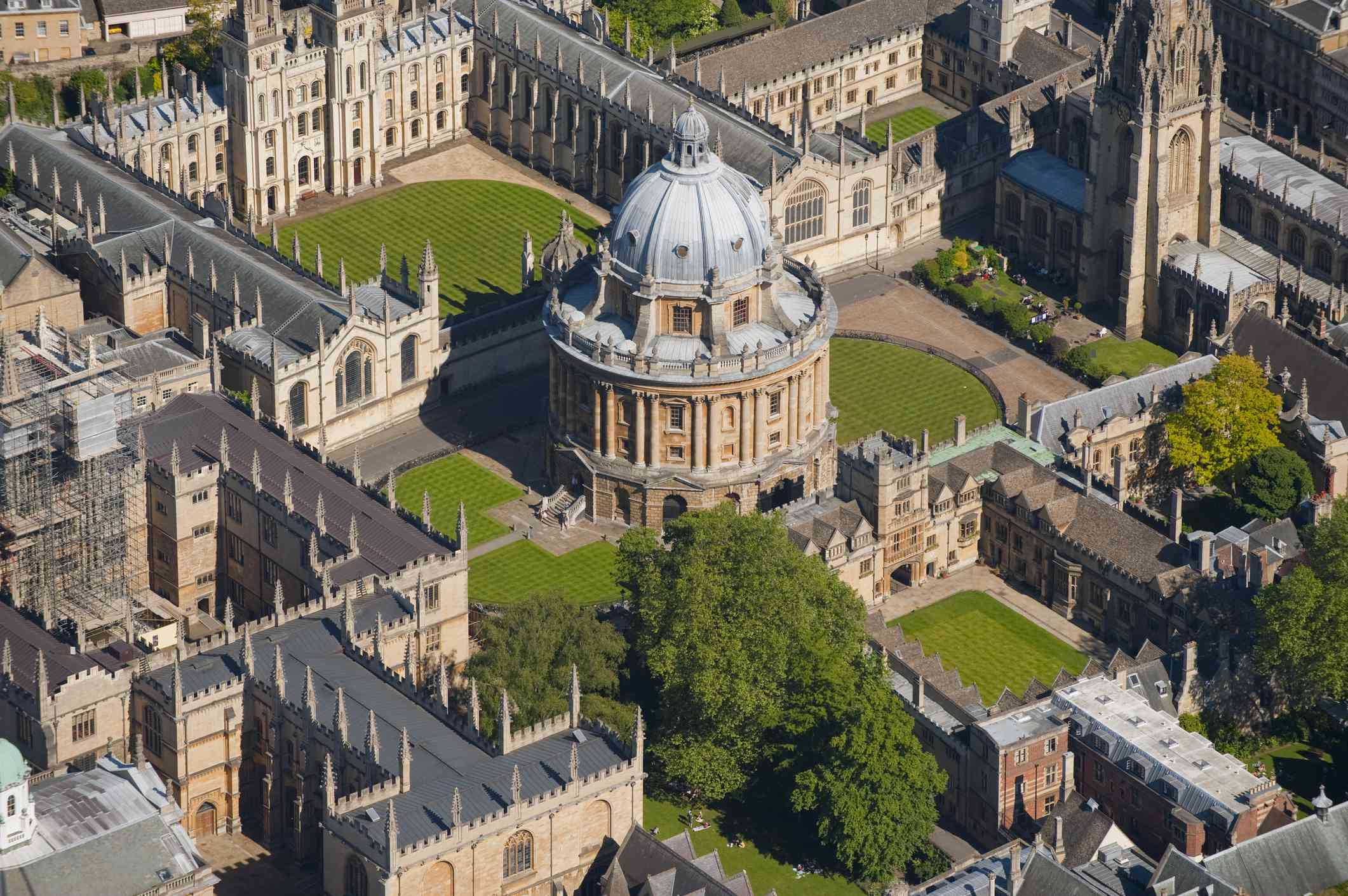 Aerial View of Radcliffe Camera at Oxford University