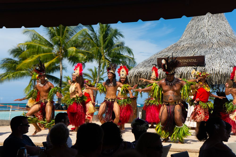 A traditional Polynesian dance show
