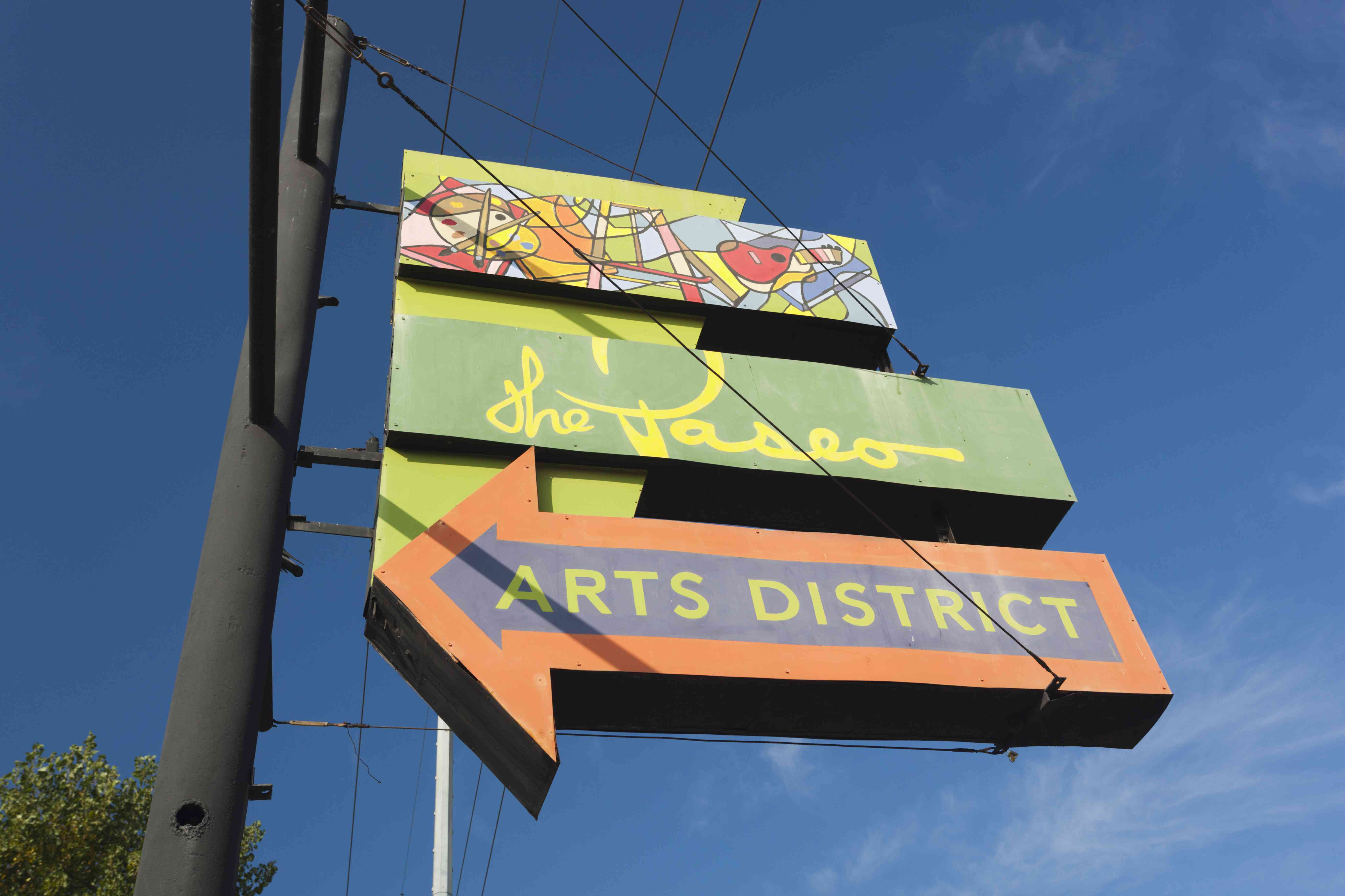 The Paseo, arts district, sign