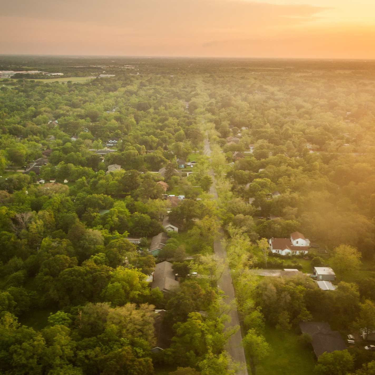 Houston suburbs from above