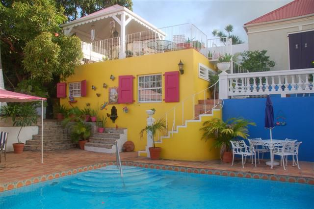 Photograph of the Pink Fancy Hotel Pool, St. Croix, US Virgin Islands