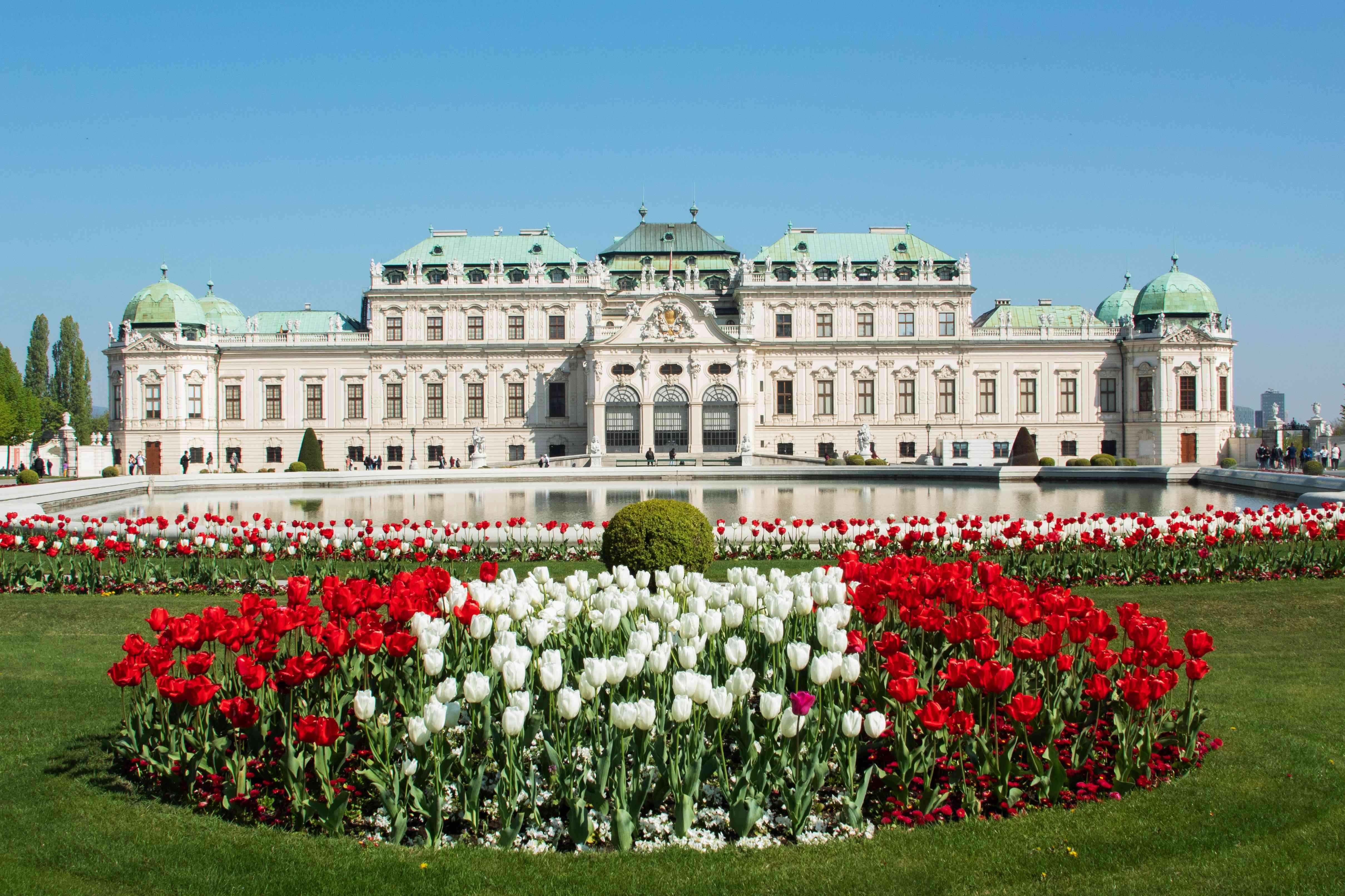 El frente del Palacio Belvedere