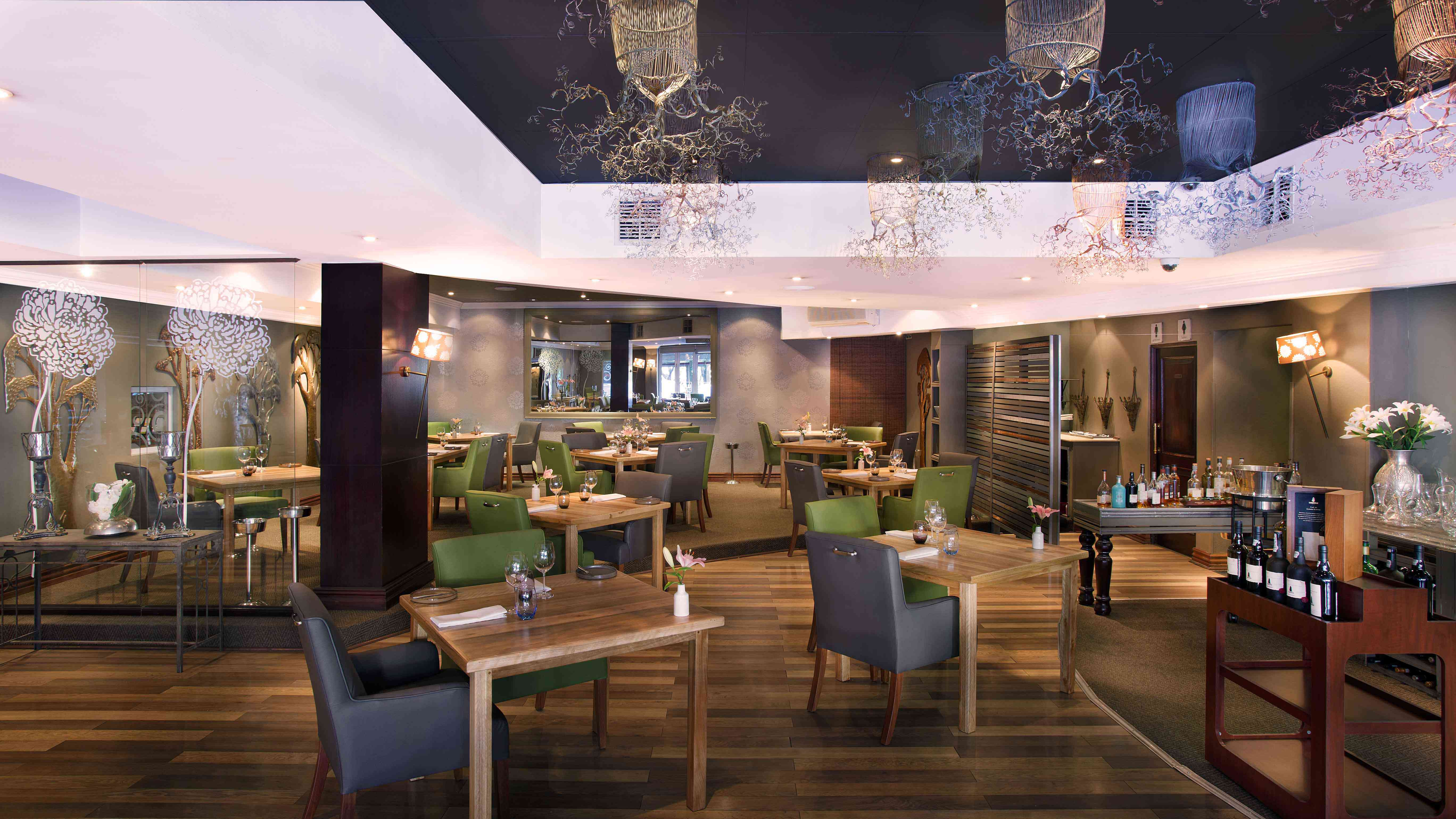 Inside dw eleven-13 restaurant in Johannesburg