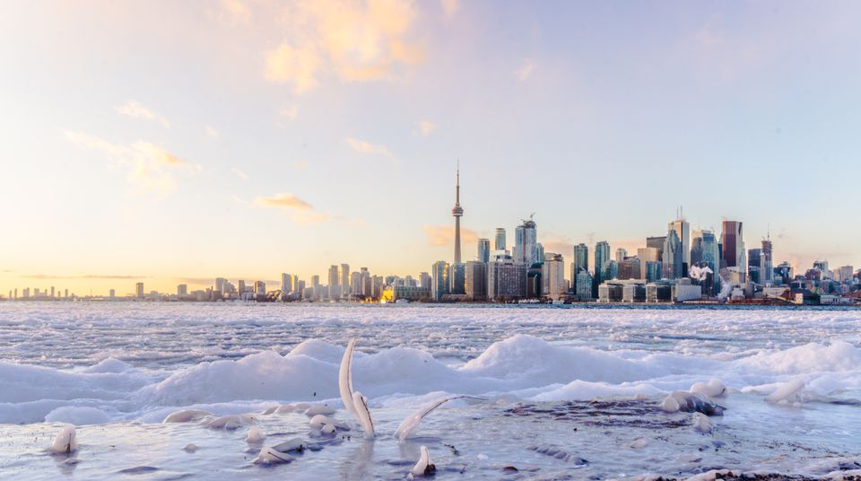 The Toronto skyline on a winter day