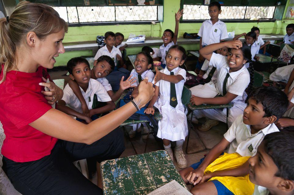 Volunteering With Children in a School