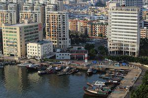 Aerial view of Shekou area, Shenzhen