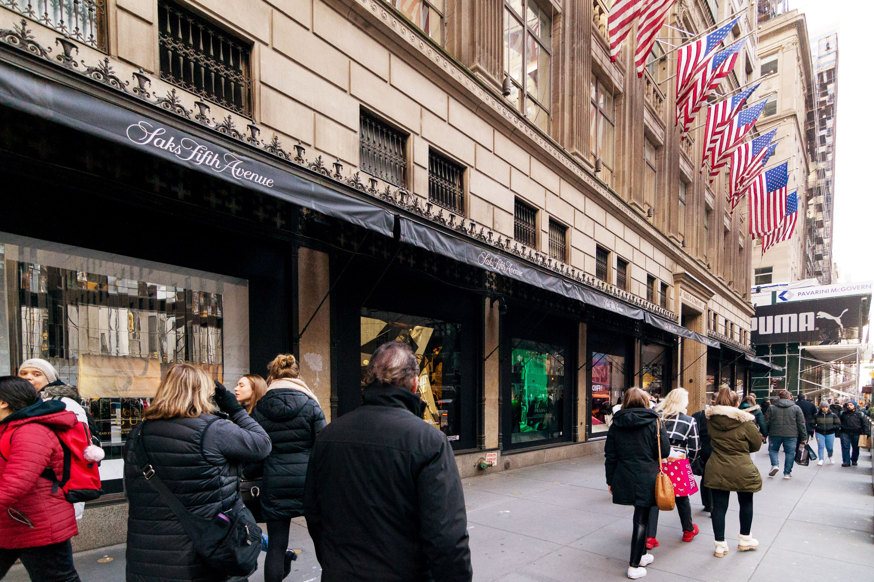 Exterior of Saks Fifth Avenue