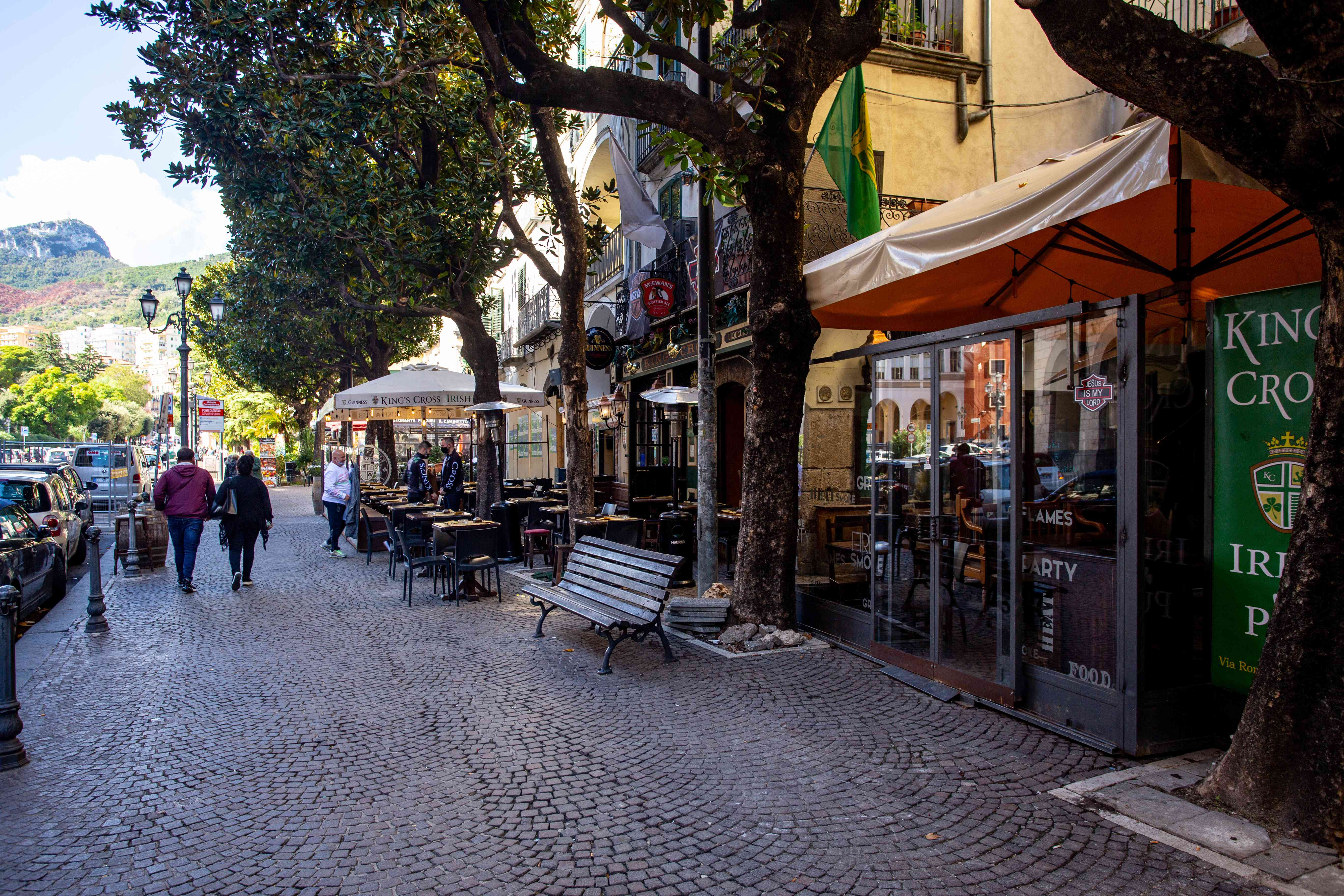 Promenade Trieste in Salerno, Italy