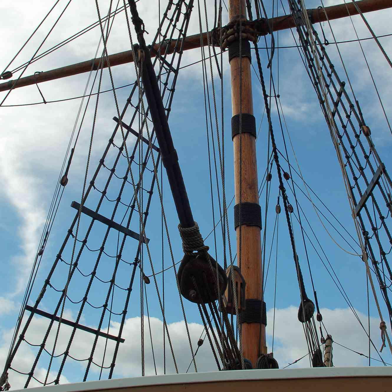 Mayflower II a Faithful Replica of the Pilgrims Ship