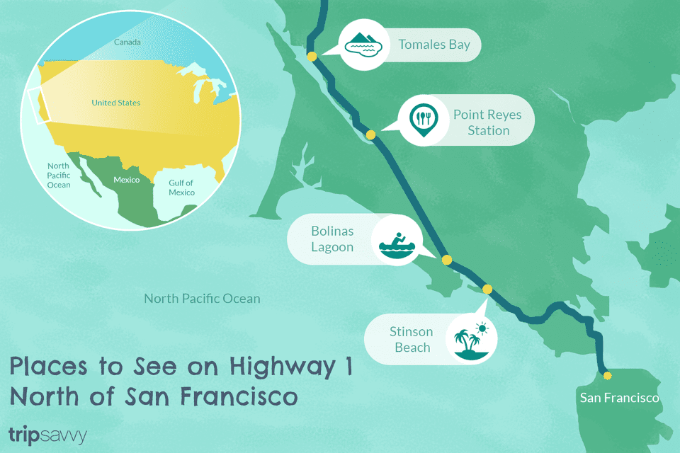 Highway 101 California Map.Highway 1 In Northern California A Drive You Ll Love
