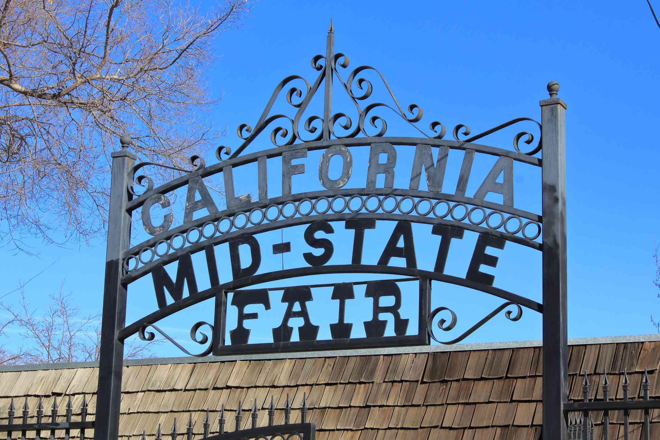 Gate in front of the Mid-state fairgrounds in Paso Robles, California