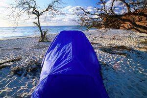 Tent on beach at Fort Jefferson, Garden Key.
