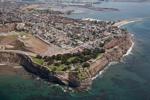 Aerial view of San Pedro, CA