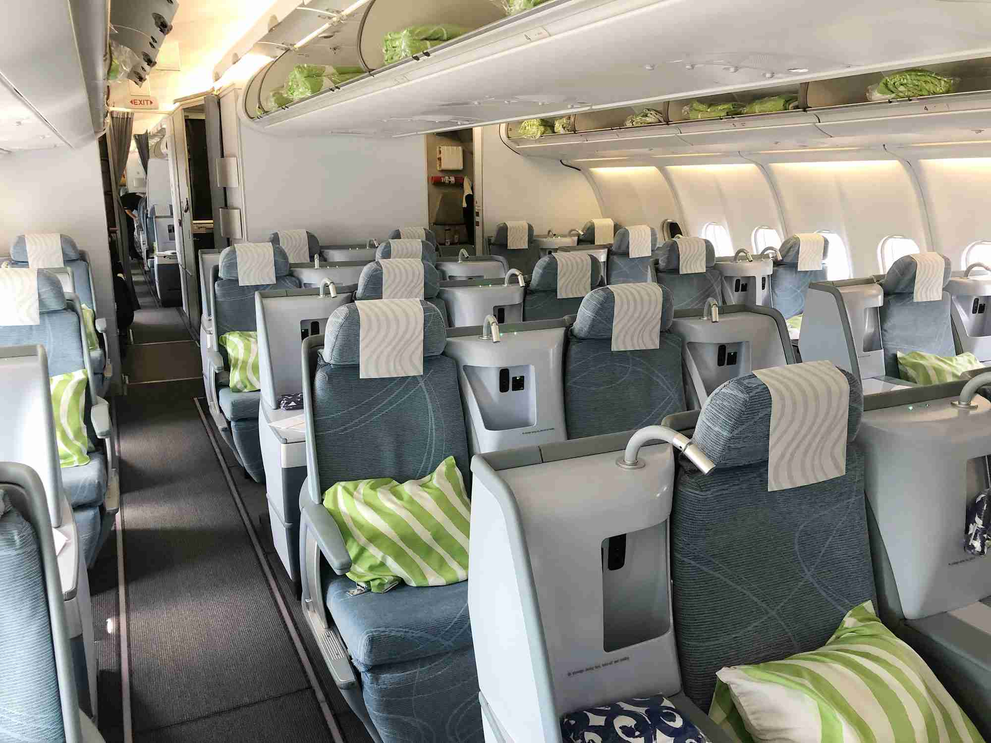 Finnair A330 business class cabin