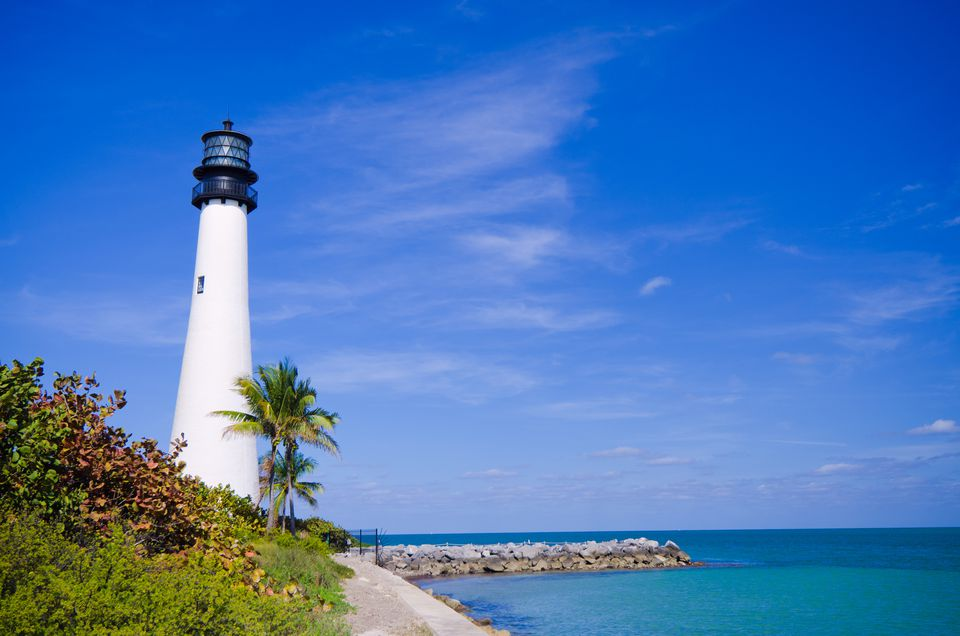 Cape Florida Lighthouse at Bill Baggs Park.