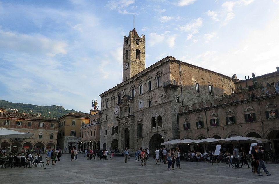 Main Square in the Centro Storico of Ascoli Piceno