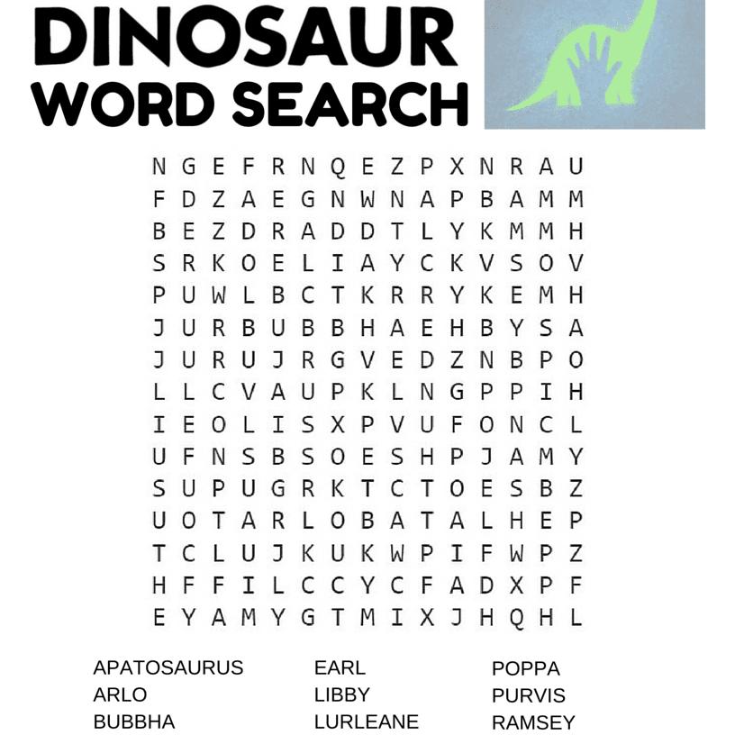 14 Free Disney Printable Word Searches