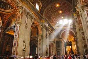 Inside the St Peter's Basilica