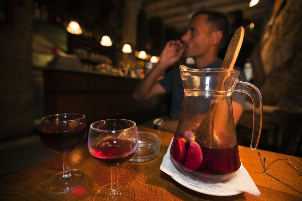 Tapas Bar at La Rambla, Barcelona, Catalonia, Spain