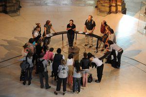 Foucault's Pendulum at the Musee des Arts et Metiers in Paris.