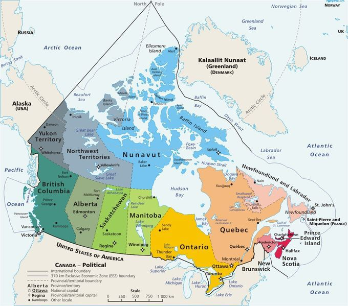 canada province map