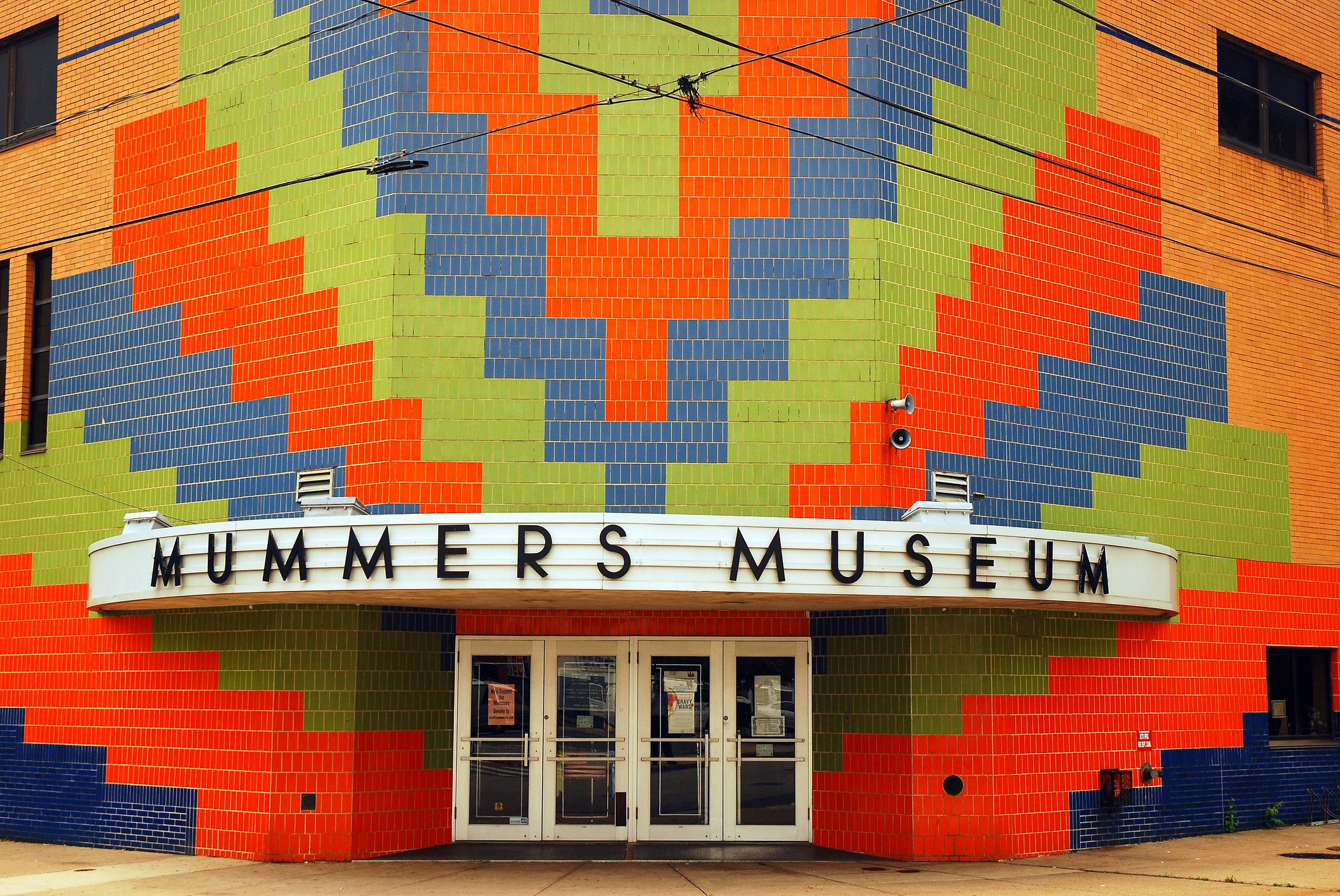 Colorful Entrance to the Mummers Museum, Philadelphia