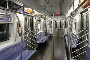 Empty Subway car in NYC