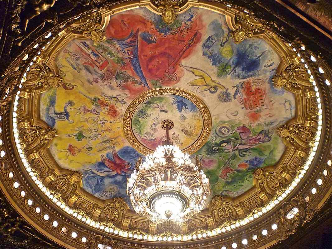 Marc Chagall's ceiling painting at the Paris Opera Garnier