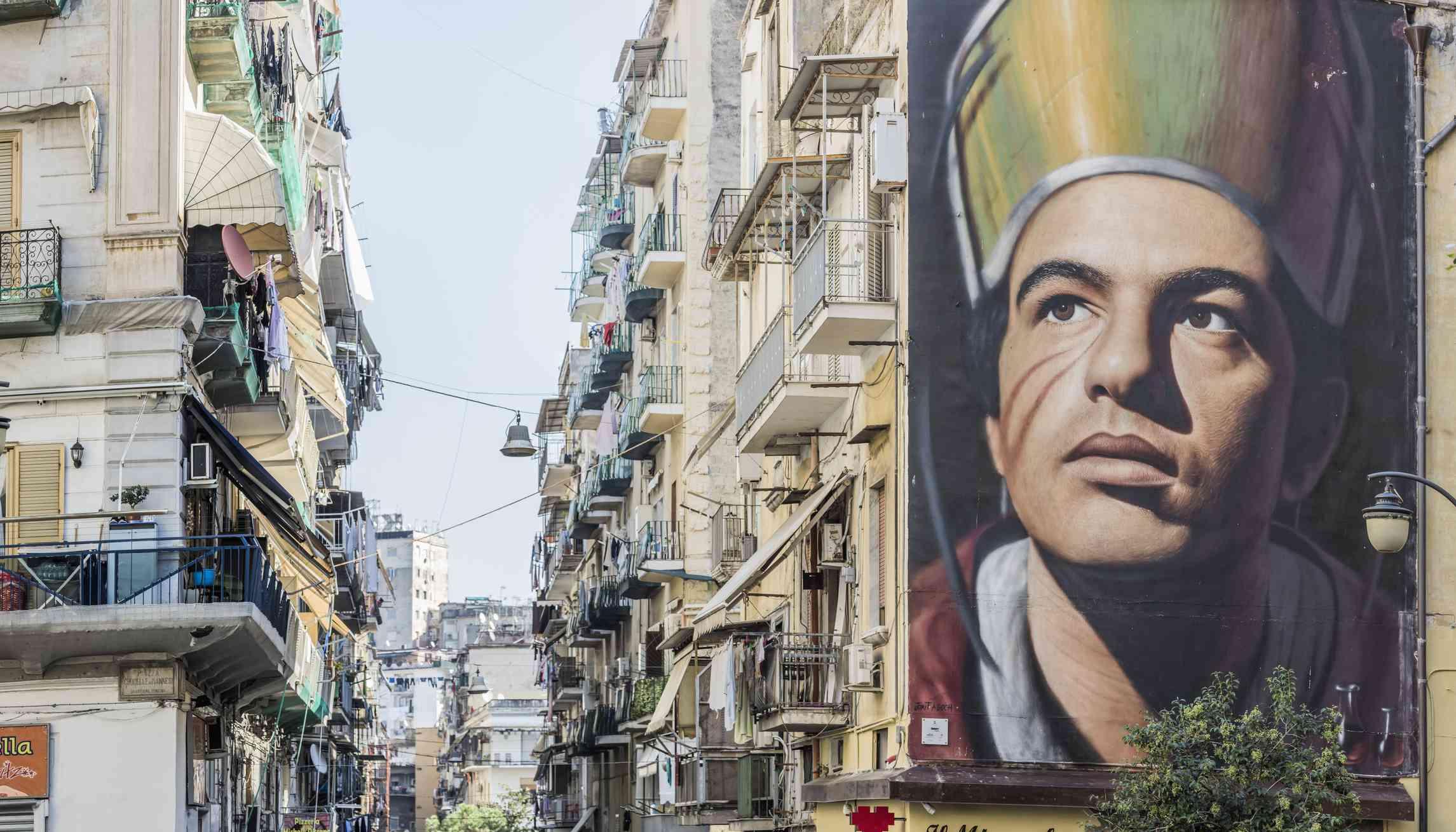 San Gennaro mural in Naples