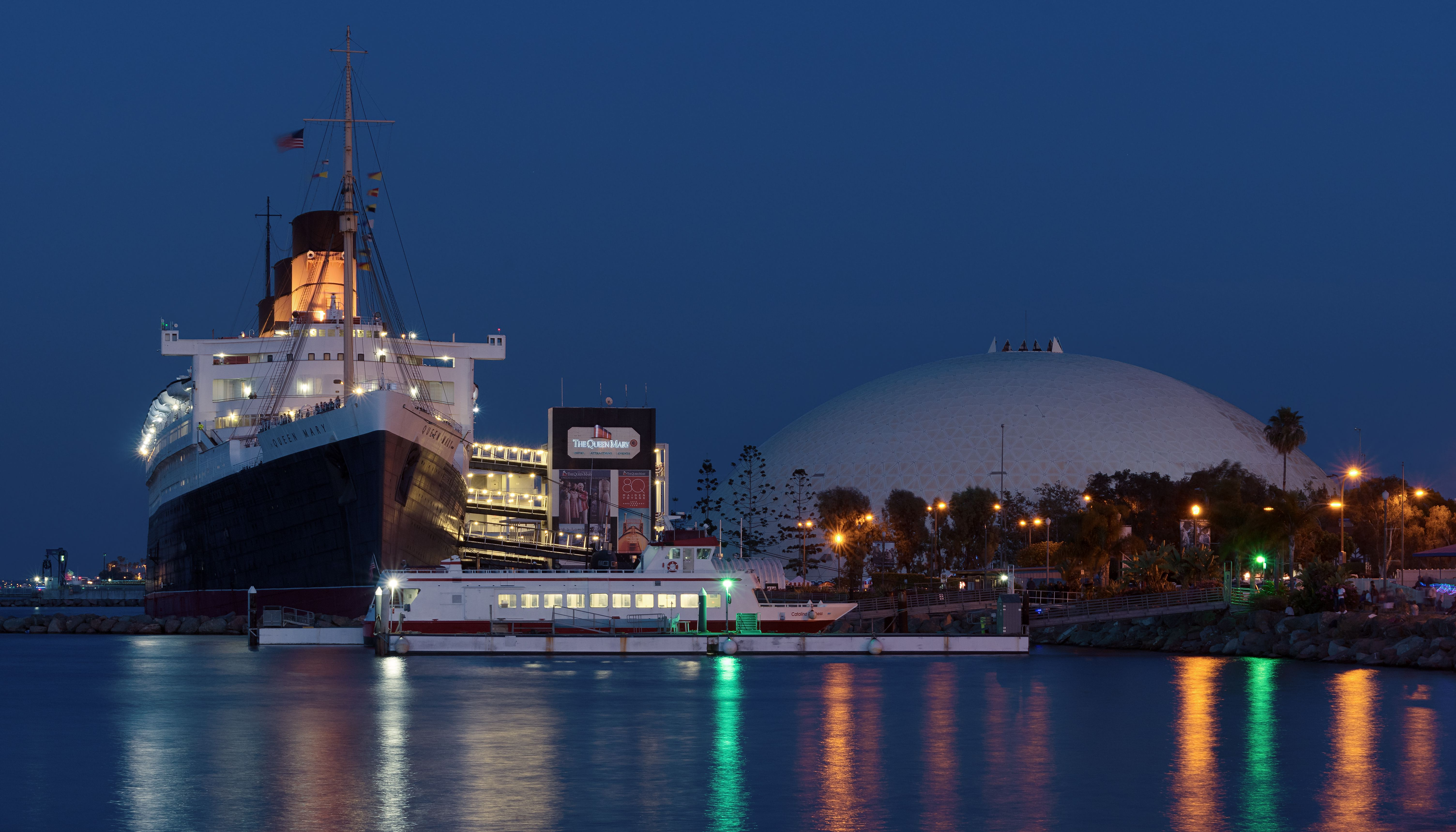 RMS Queen Mary Ocean an Dome in Long Beach