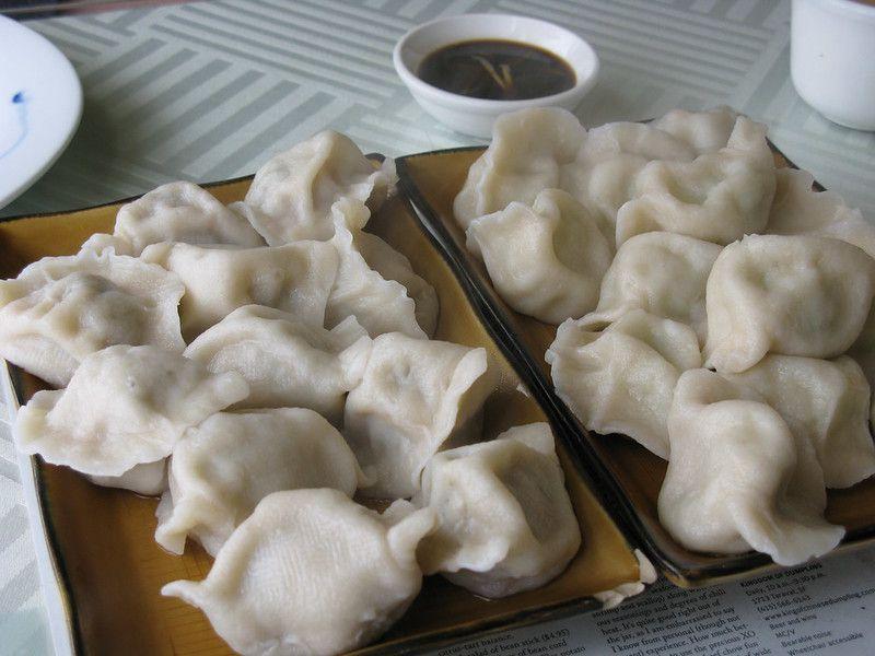 Dumplings on plate from King of Dumplings