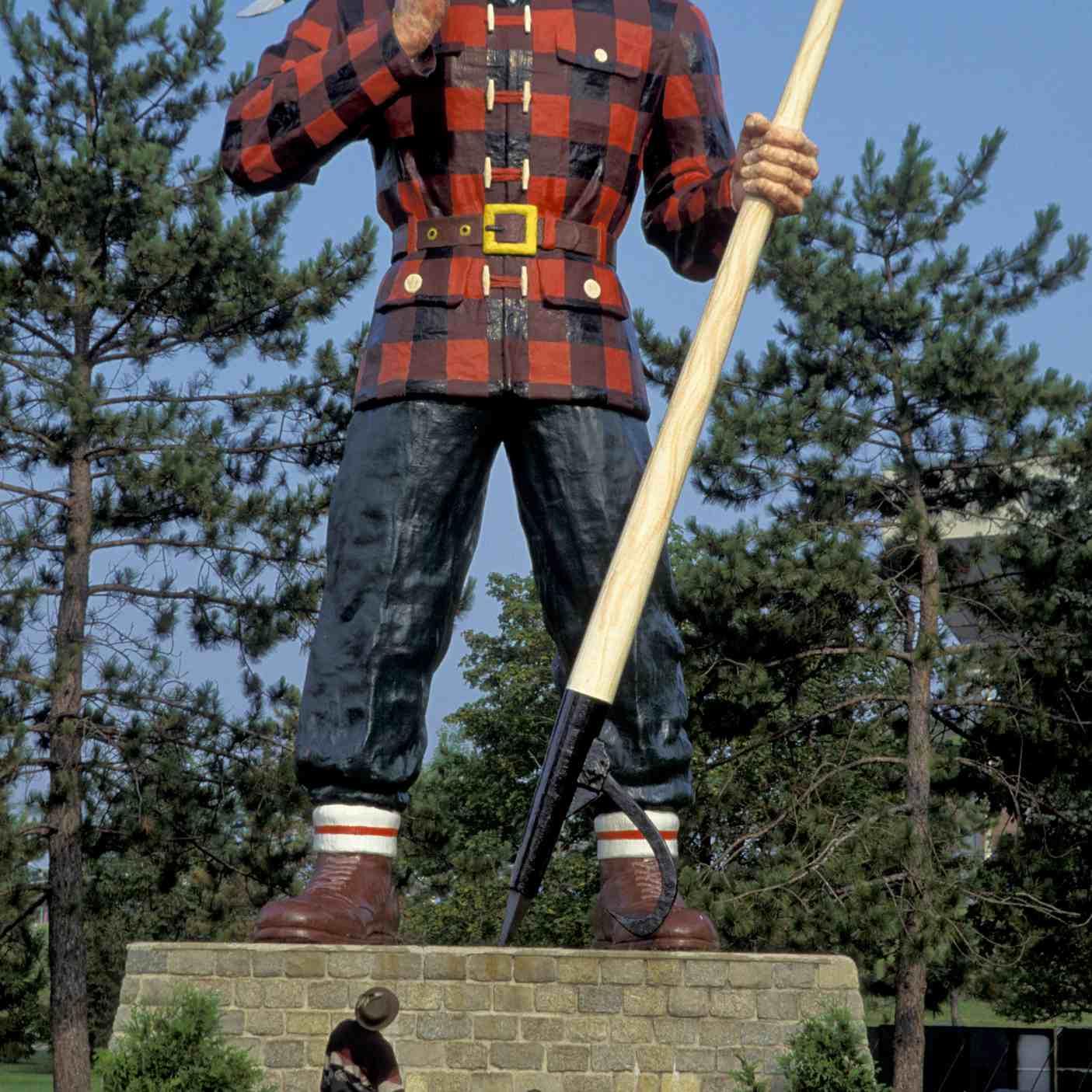 Giant Paul Bunyan Statue in Bangor, Maine