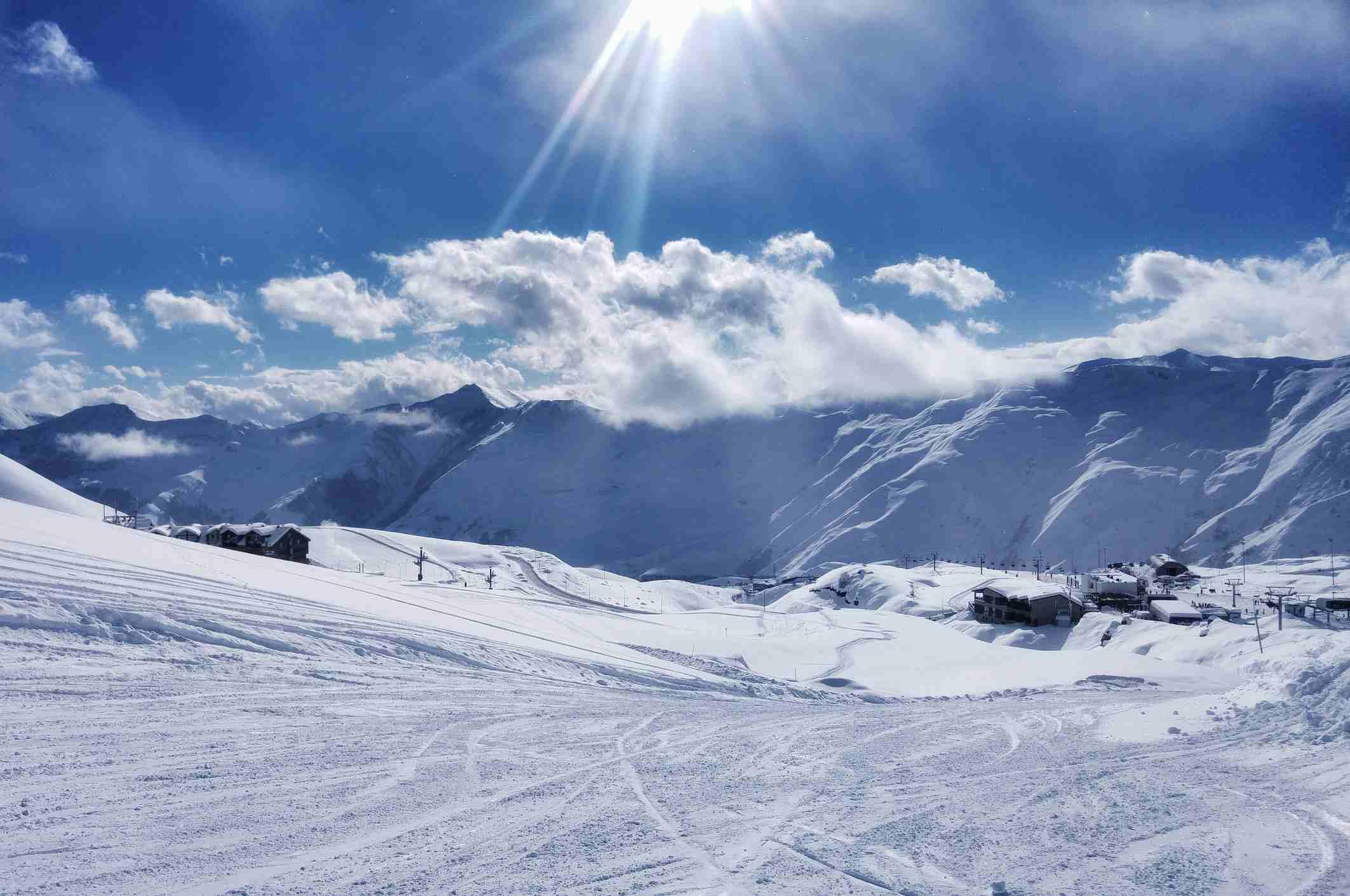 Pasanauri mountain ski slope