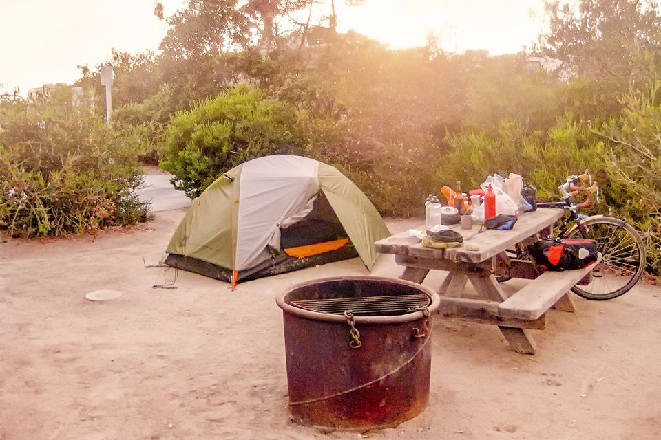 Hiker Biker Campsite At Doheny State Beach
