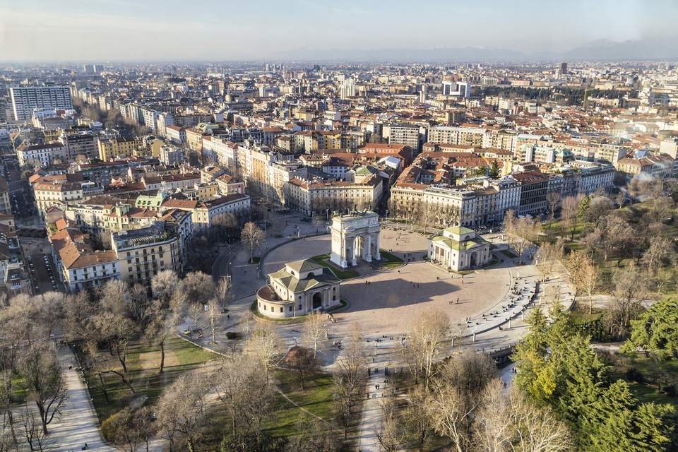 An overview of the city of Milan in Italy