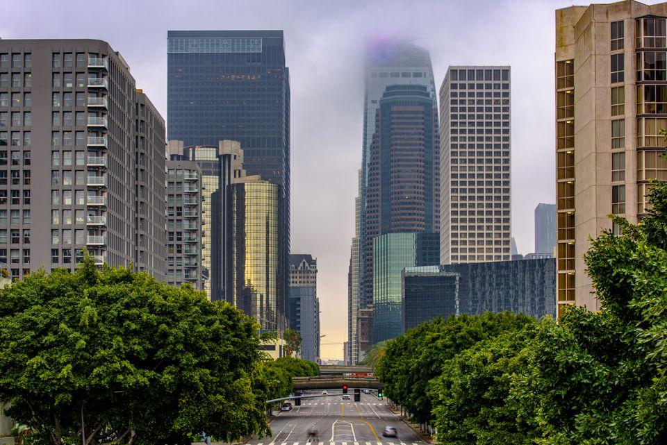 A Stormy Los Angeles Skyline
