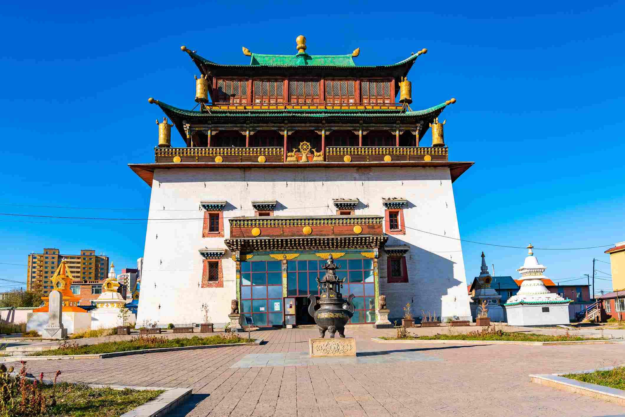 Gandantegchinlen Monastery in Ulaanbaatar, Mongolia