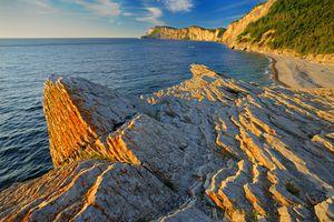 Shoreline along the Atlantic Ocean Forillon National Park Quebec Canada