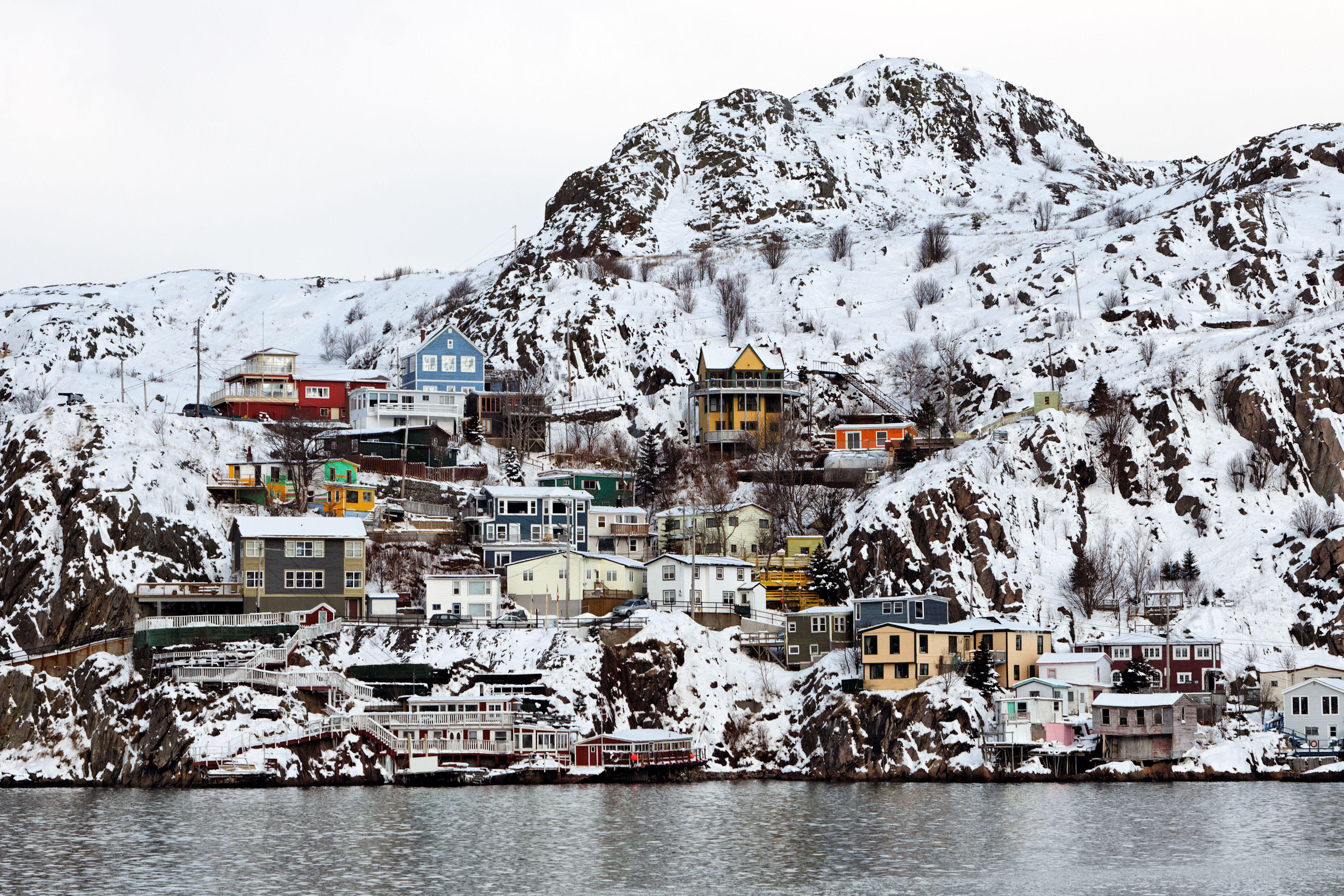 Snow, Jellybean Row St Johns, Newfoundland, Canada