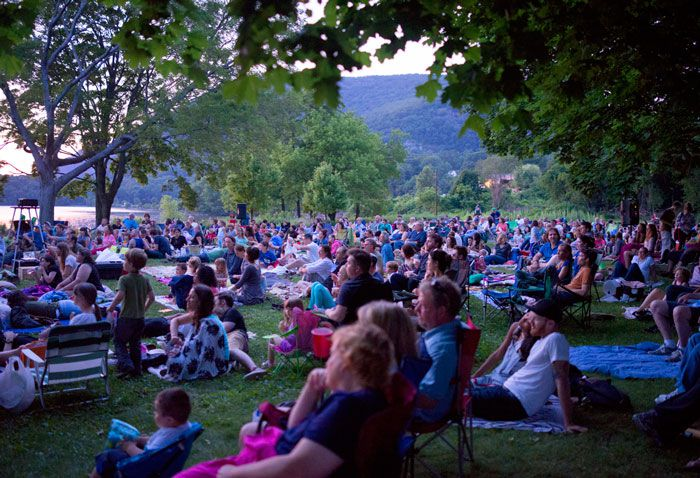 Outdoor Movie Screening in Cold Spring, New York